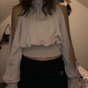 Nordstrom cream colored/ blush blouse